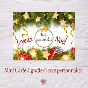 Mini carte à gratter Noel texte libre