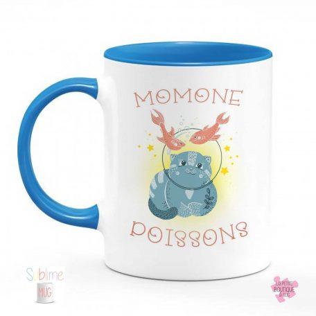 mug signe poisson bleu