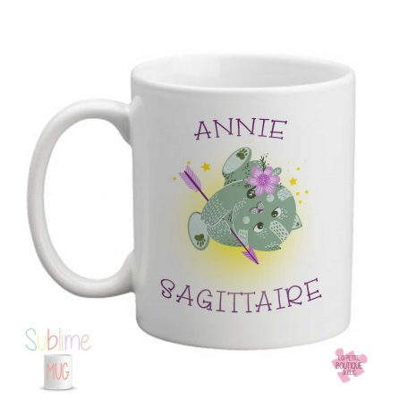 mug signe sagittaire prénom