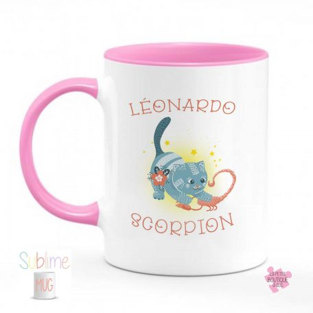 mug scorpion prenom rose