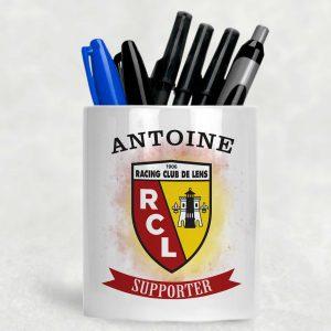 pot à crayons rc lens avec prénom