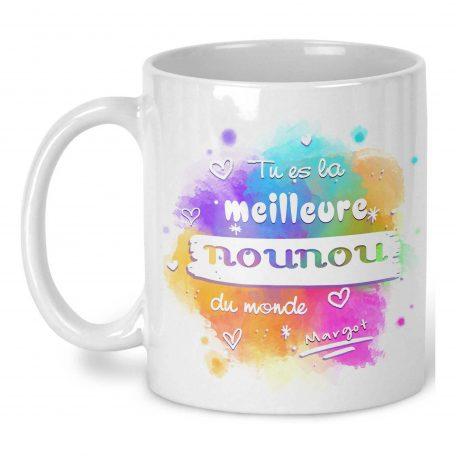mug nounou personnalisable