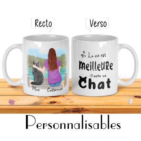 tasse personnalisable chat