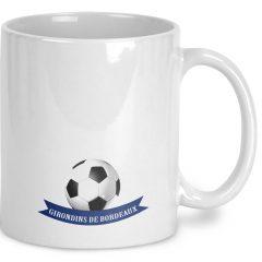 Mug Foot Girondins Bordeaux avec prénom