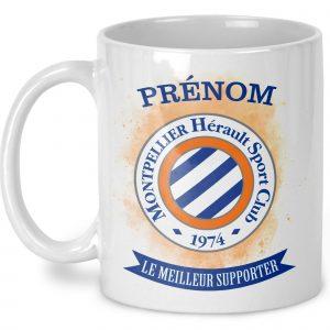 Mug Montpellier Hérault Sport Club personnalisé prénom