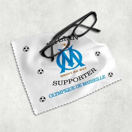 essuie lunette OM marseille avec prénom