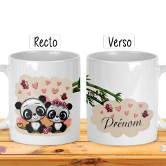 mug panda personnalisable prénom