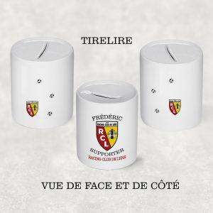 Tirelire RC Lens personnalisée prénom